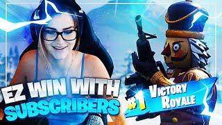 EZ WIN WITH MY SUBS! (Fortnite: Battle Royale) | KittyPlays