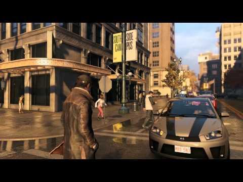 Watch Dogs 4K Gameplay - E3 Mod Ultra HD PC - Bloom, High Quality Rain, Reflection Improvement
