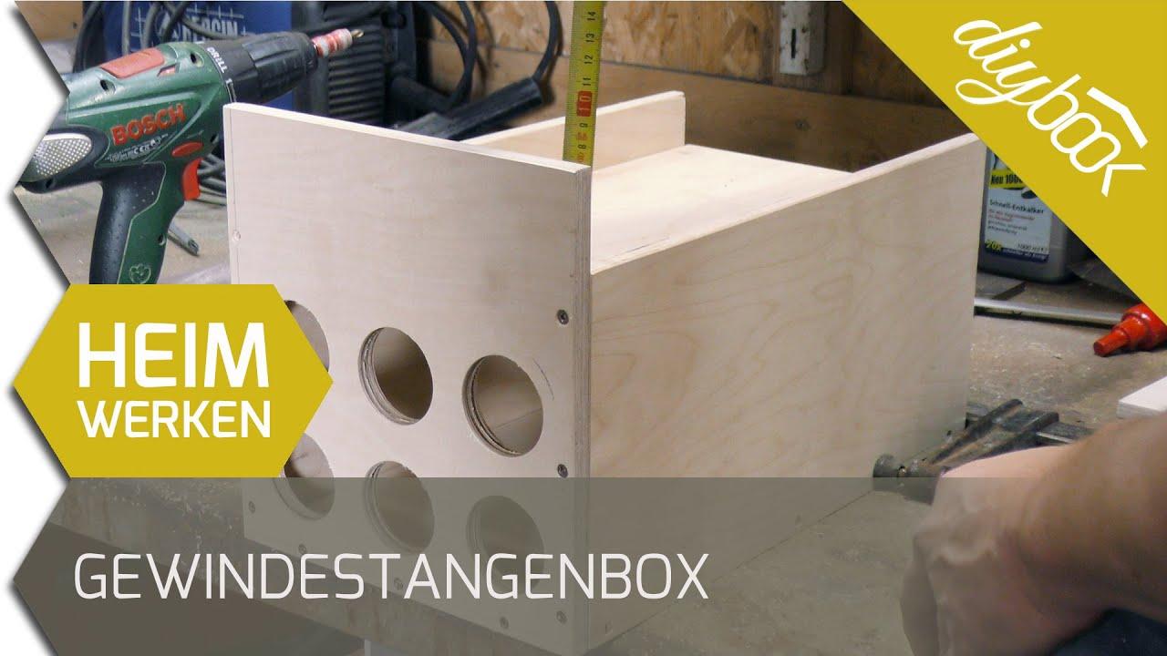 werkzeugkiste selber bauen aufbewahrungsbox f r gewindestangen youtube. Black Bedroom Furniture Sets. Home Design Ideas