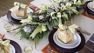Праздничная сервировка стола на Новый год 2014 - год Лошади.