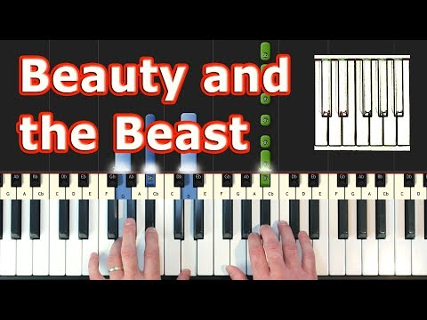 Beauty and the Beast - Piano Tutorial - Disney - Sheet Music (Synthesia)