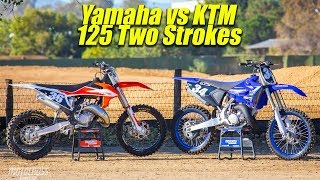 2020 Yamaha YZ125 VS KTM 125SX Two Stroke - Motocross Action Magazine