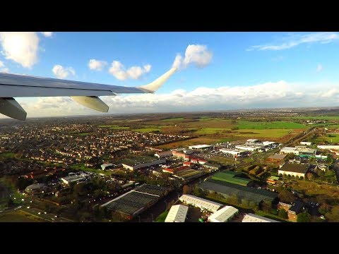 FLYBE Embraer E195 ONBOARD Takeoff from London Southend Airport (SEN)!