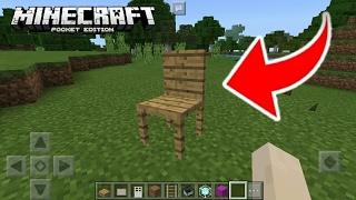 Como Hacer Una Silla Sin Mods En Minecraft PE 1.1.0.9 || Funciona ✓ MCPE