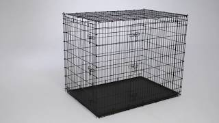 54-inch Double Door Dog Crate (SL54DD) Assembly Video