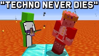 if Technoblade was BAD at Minecraft