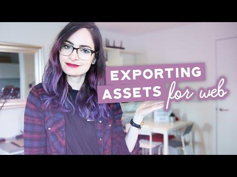 Exporting Design Assets For Web - File Types & Optimization