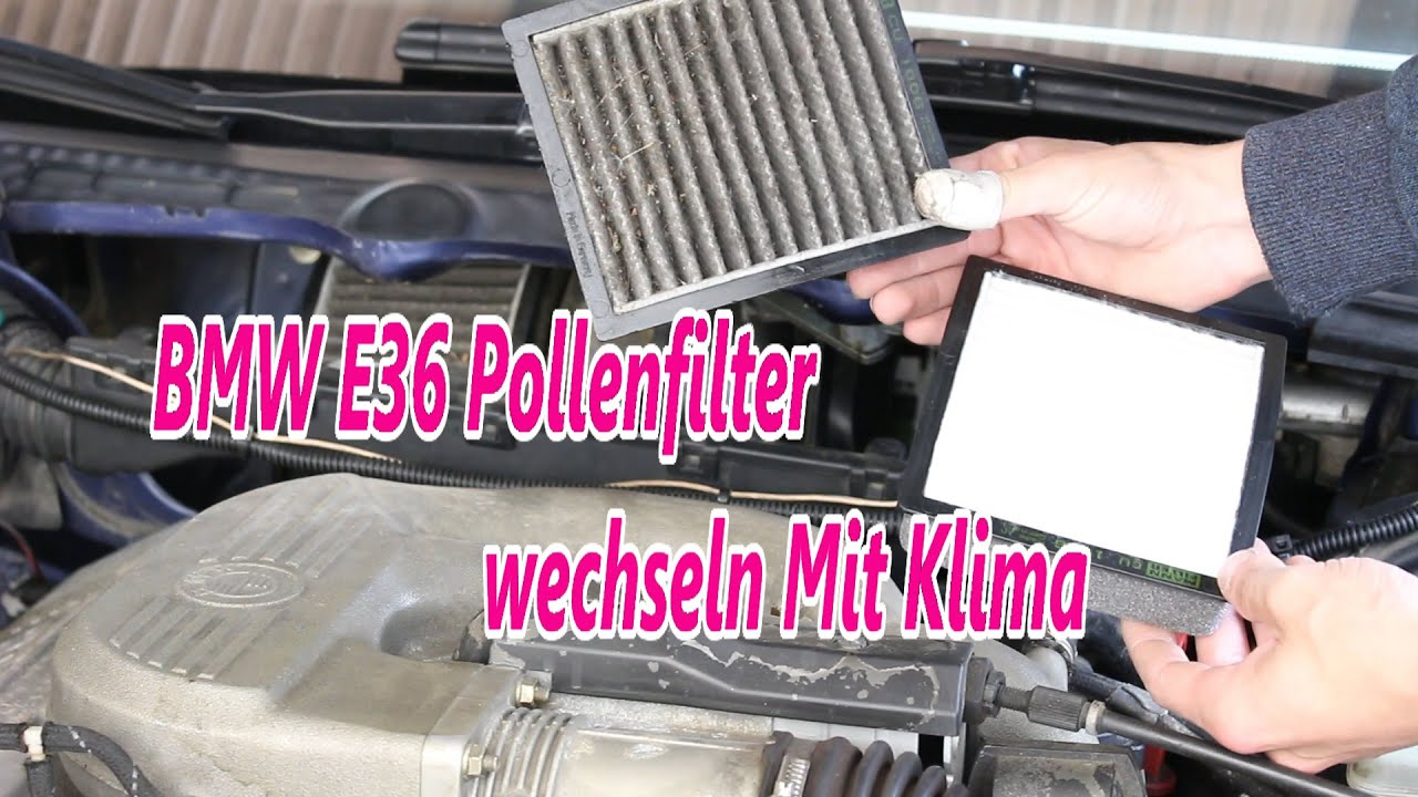 bmw e36 pollenfilter wechseln mit klima youtube. Black Bedroom Furniture Sets. Home Design Ideas
