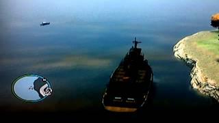 Driving the biggest boat in GTA 4 (Tug)