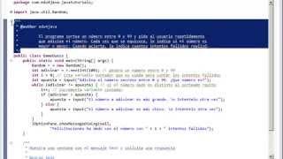 Random - Sortear números - Juego de adivinar número en Java