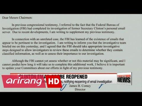 FBI reopens probe on Hillary Clinton