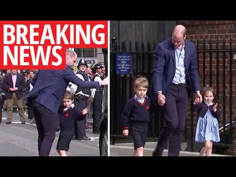 Prince William brings George and Charlotte to Kate's hospital bedside to meet brother