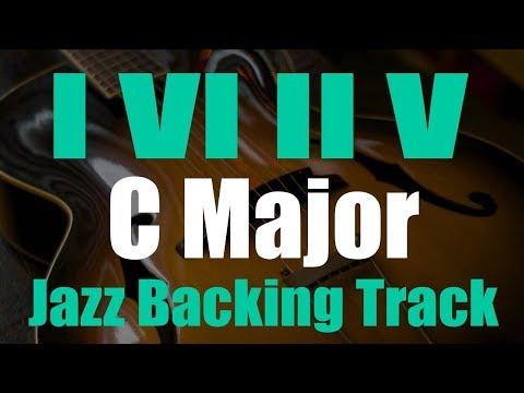 1-6-2-5 Jazz Backing Track in C major - Medium Swing