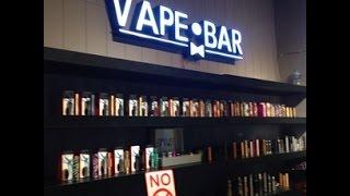 Электронные сигареты. Бар для вайперов или где можно свободно курить электронную сигарету.(один из первых в мире баров, где в место выпить предлагают выбрать жидкость для электронных сигарет на любо..., 2015-02-10T13:30:55.000Z)