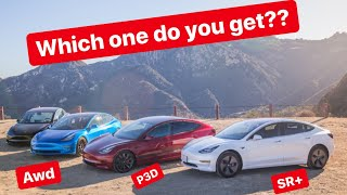 Buying a Tesla Model 3 in 2020? Which do you choose??
