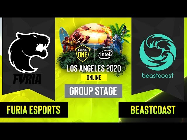 Dota2 - Beastcoast vs. FURIA Esports - Game 1 - Group Stage - SA - ESL One Los Angeles
