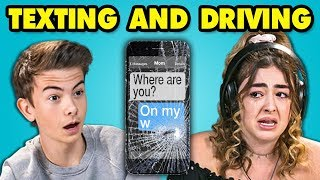 Teens React To Distracted Driving (Texting and Driving)