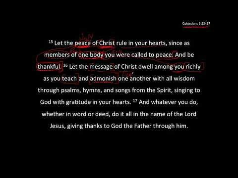 Peace & Riches - Col 3:15-17