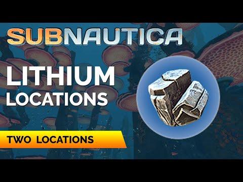 Subnautica Where to find Lithium