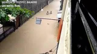 Chest-deep flood at San Mateo, Rizal