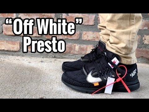 "1fdcb7e616ef Nike Air Presto Off White ""Black"" on feet - YouTube"