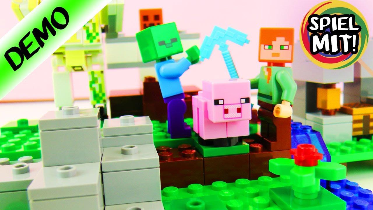 LEGO Minecraft Deutsch ZOMBIEANGRIFF AUF ALEX Der Eisengolem Lego - Minecraft block spiele