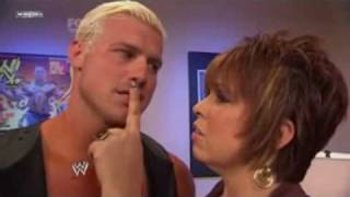 Smackdown 28-5-10 Vickie Guerrero backstage with Dolph Ziggler