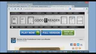 How to load eBooks in the Pocketbook Color Lux