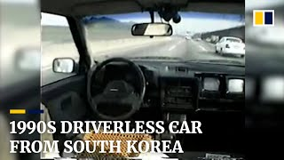 Back to the future: South Korean professor's self-driving car was decades ahead of the curve