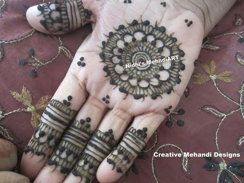 Easy Circular Mandala Gol Tikki Henna Mehndi Design