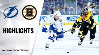 NHL Highlights | Lightning @ Bruins 10/17/19