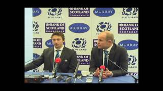 SCOTLAND V FIJI RUGBY - POST MATCH PRESS CONFERENCE - 14.11.09 - ANDY ROBINSON & CHRIS CUSITER