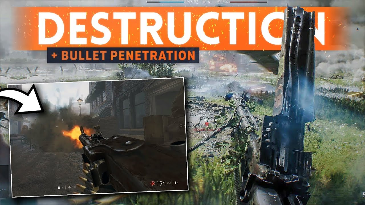 BATTLEFIELD 5: Bullet Penetration Fully Explained! - How Does It Work? (What Weapons Can Do It?)