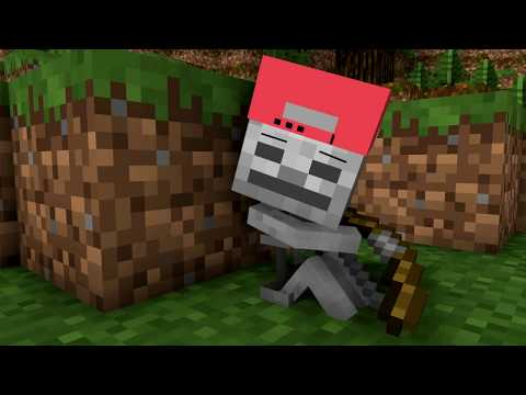 Skeleton Life - Craftronix Minecraft Animation - Видео из Майнкрафт (Minecraft)