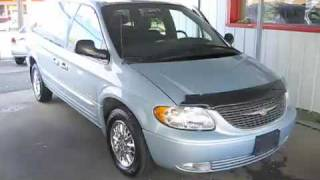 Jumping Off Dead Battery In The Repo 2001 Chrysler Town and Country Limited
