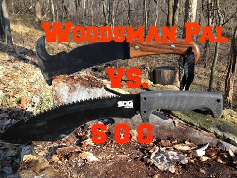 Woodsman Pal vs SOG Kukri review