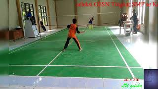 O2SN, Seleksi O2SN tingkat SMP se Kec VII Koto Ilir cabang Badminton