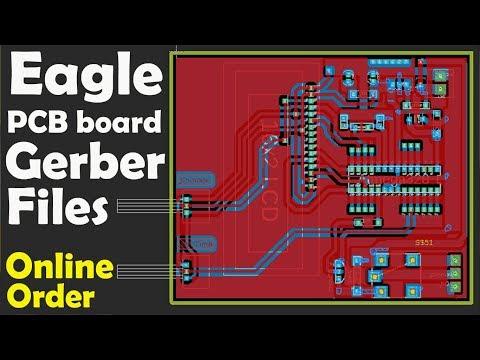 Eagle PCB gerber files generation and Online order  Eagle pcb free  pcb design program