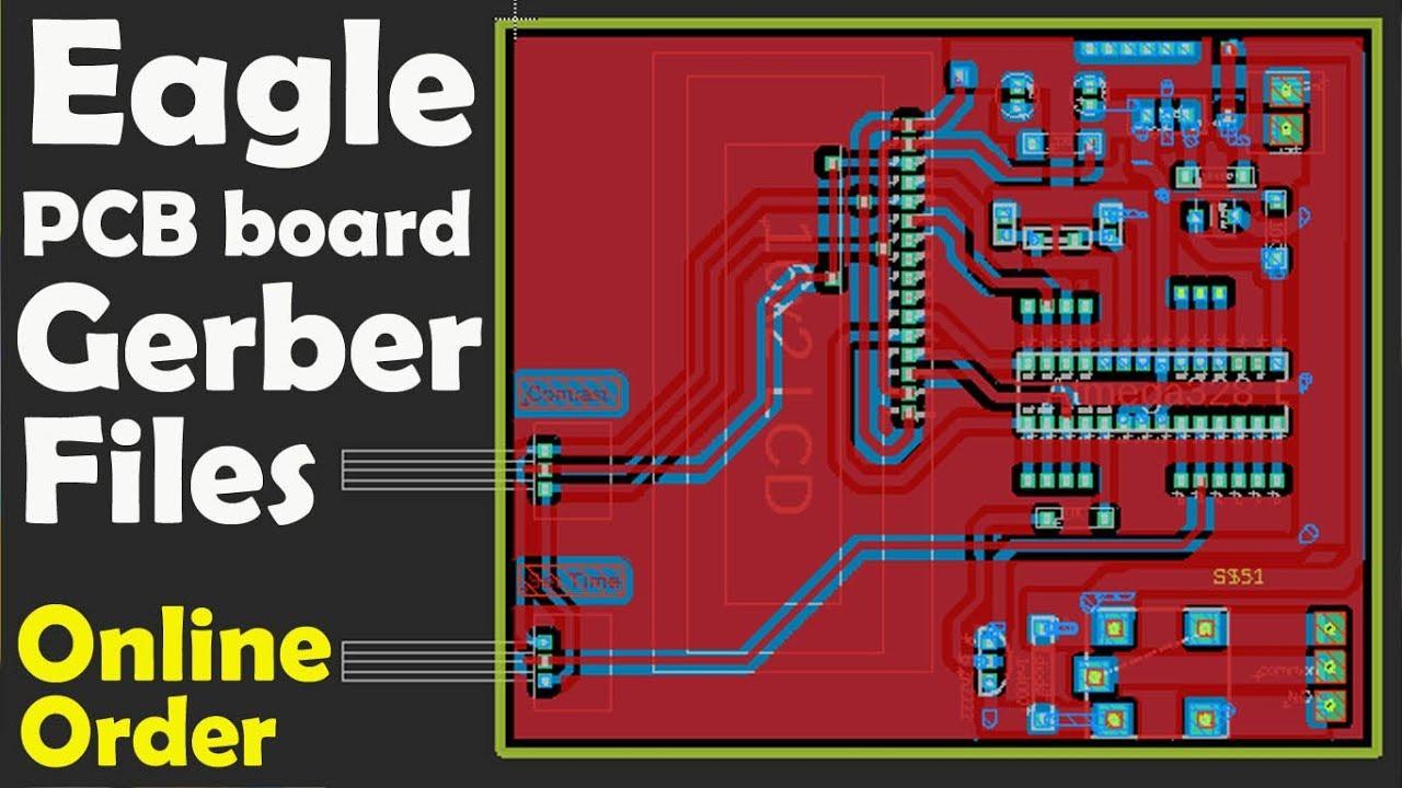 Eagle Pcb Gerber Files Generation And Online Order Eagle Pcb Free Download Pcb Design Program Youtube