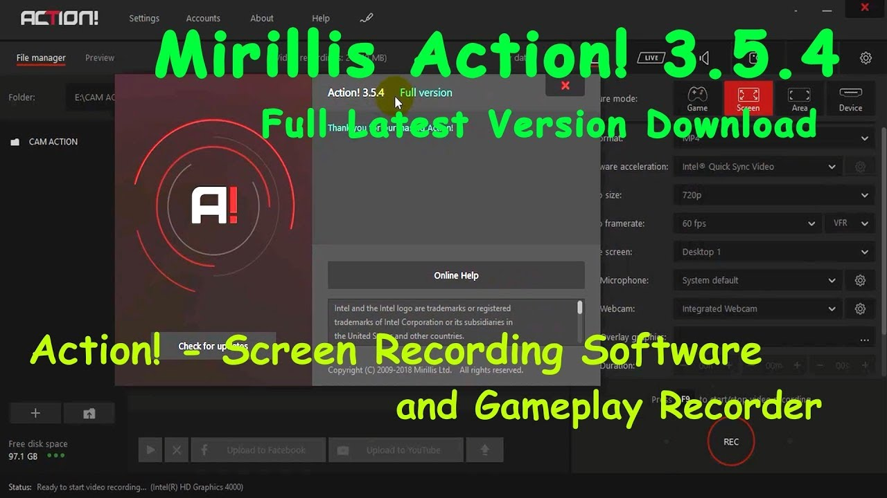 download mirillis action full crack