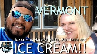 FREE CAMPING IN VERMONT w/ Harvest Hosts stays / Ben & Jerry's Factory Tour / RV VLOG