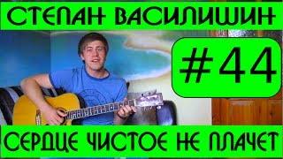 #44 Сердце чистое не плачет   Степан Василишин  видеоурок, слова и аккорды