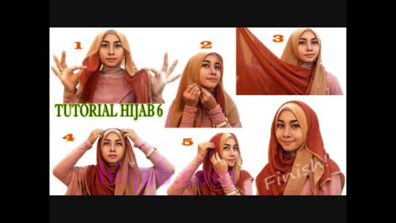 Cara Memakai Jilbab Segi Empat Simple Dan Modis Untuk Wajah Bulat