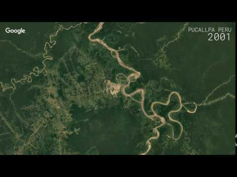 Google Timelapse: Pucallpa, Peru
