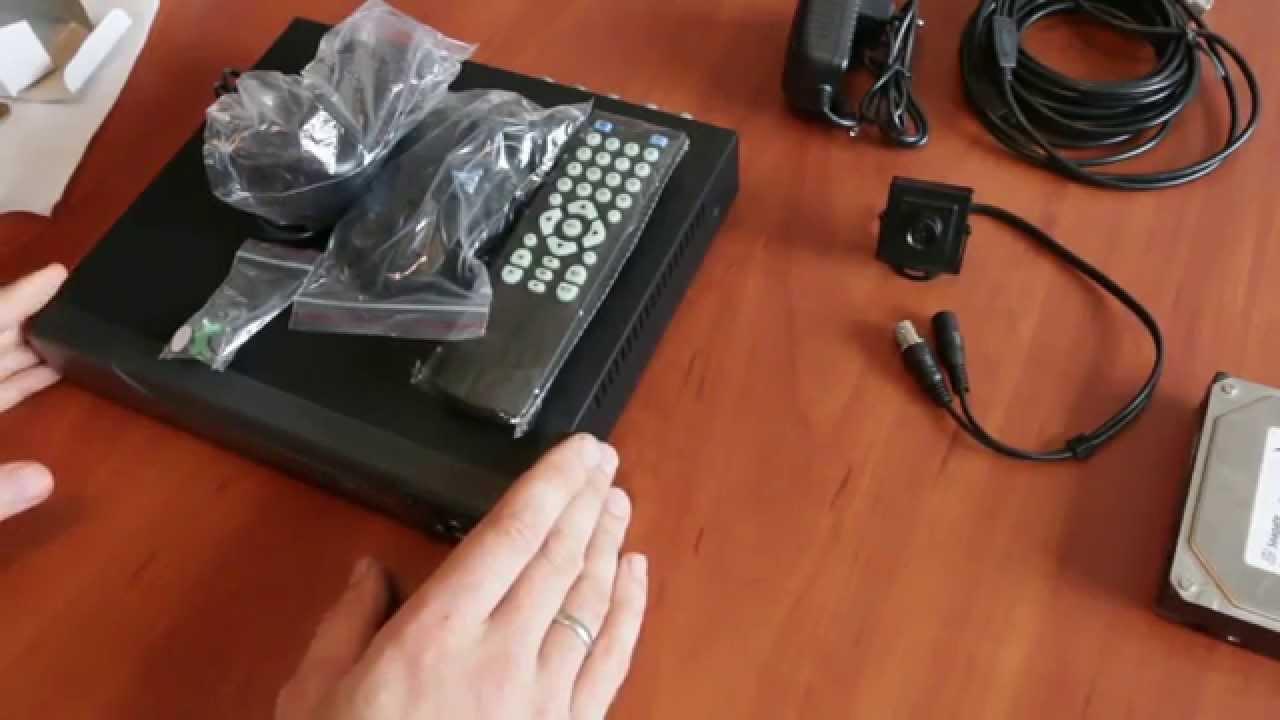 Комплект скрытого видеонаблюдения для квартиры