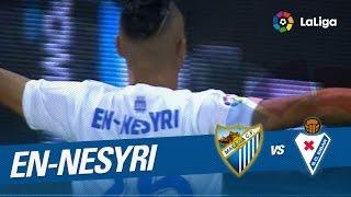 Golazo de En-Nesyri (2-1) en su debut en el Málaga CF vs SD Eibar