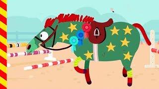 Животные для детей. Наряжаем лошадку на праздник. Развивающий Мультик про лошадь.