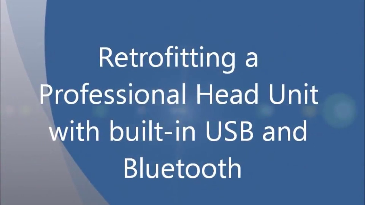 Retrofitting a Professional Head Unit with USB and