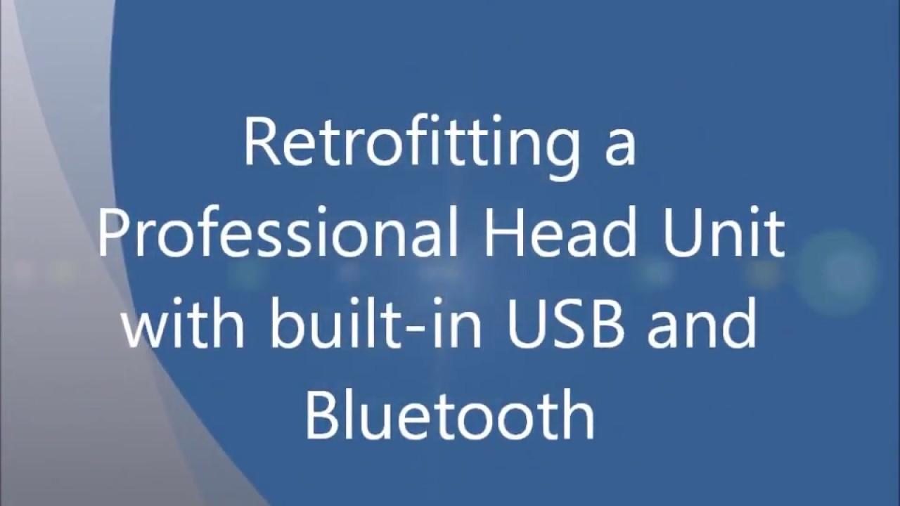Retrofitting a Professional Head Unit with USB and