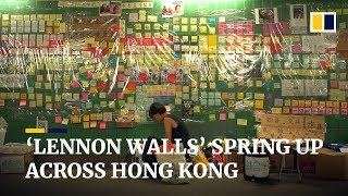 'Lennon Walls' spring up across Hong Kong